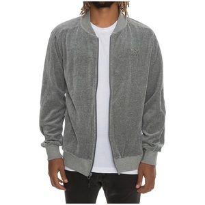 PUMA Evo T7 TRACK Jacket Mens XXL Gray Velour